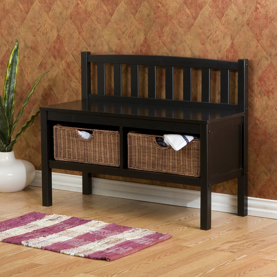 Awesome Boston Loft Furnishings Mission/Shaker Black Storage Bench