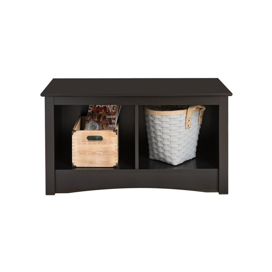 Prepac Furniture Black Storage Bench