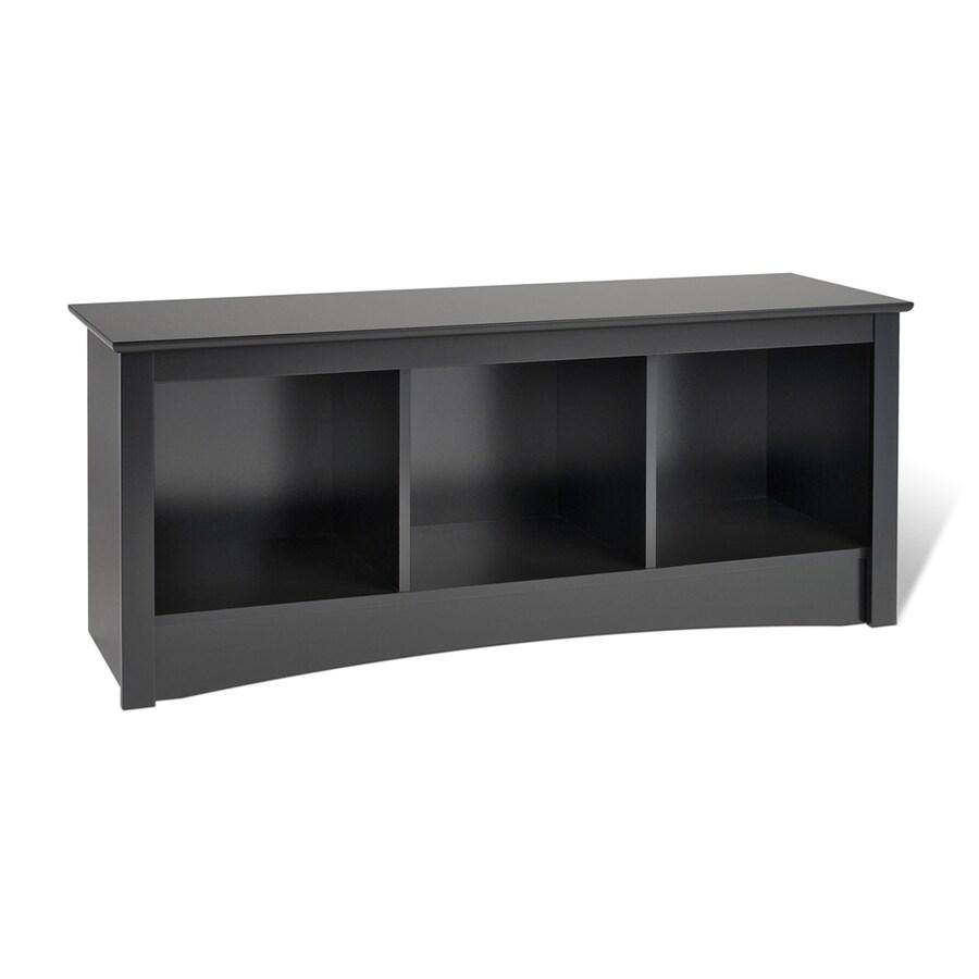 Prepac Furniture Black Storage Bench