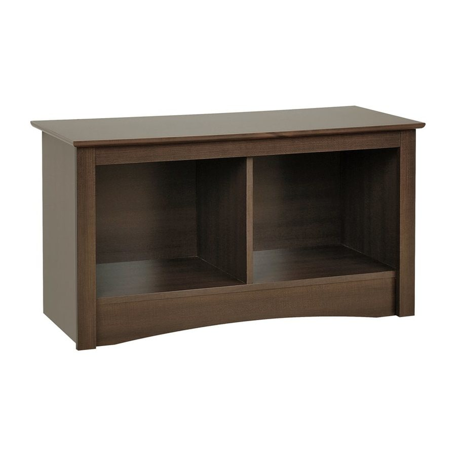 Prepac Furniture Fremont Transitional Espresso Storage Bench