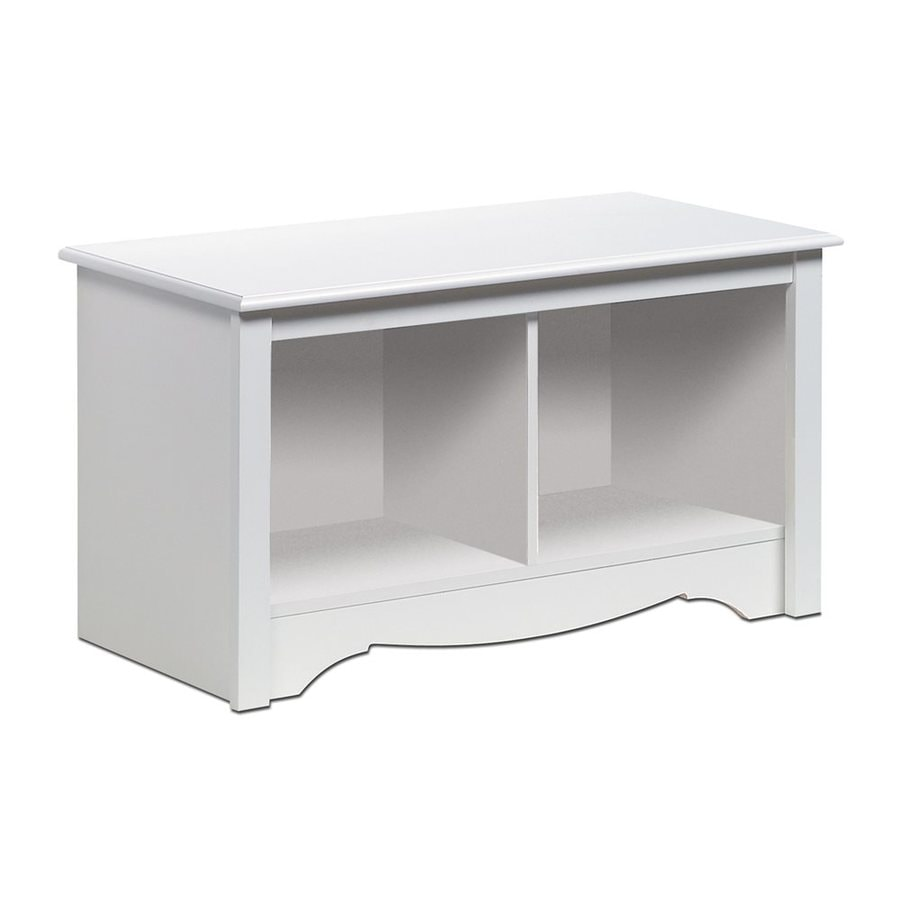 Prepac Furniture Monterey Transitional White Storage Bench
