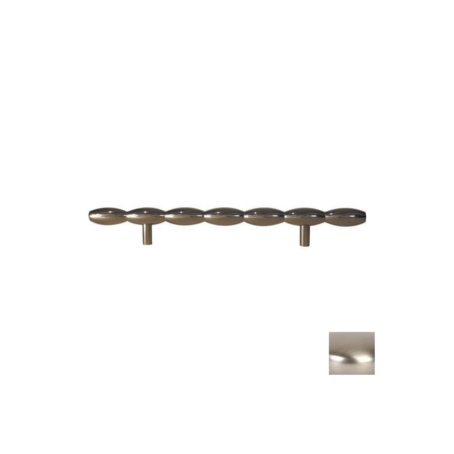Lew's Hardware 6-in Center-to-Center Brushed Nickel Barrel Series Bar Cabinet Pull