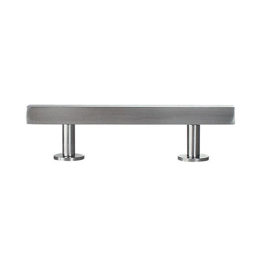 Lew's Hardware 3-3/4-in Center-to-Center Brushed Nickel Bar Series Bar Cabinet Pull