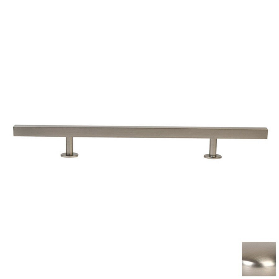 Lew's Hardware 6-in Center-to-Center Brushed Nickel Bar Series Bar Cabinet Pull