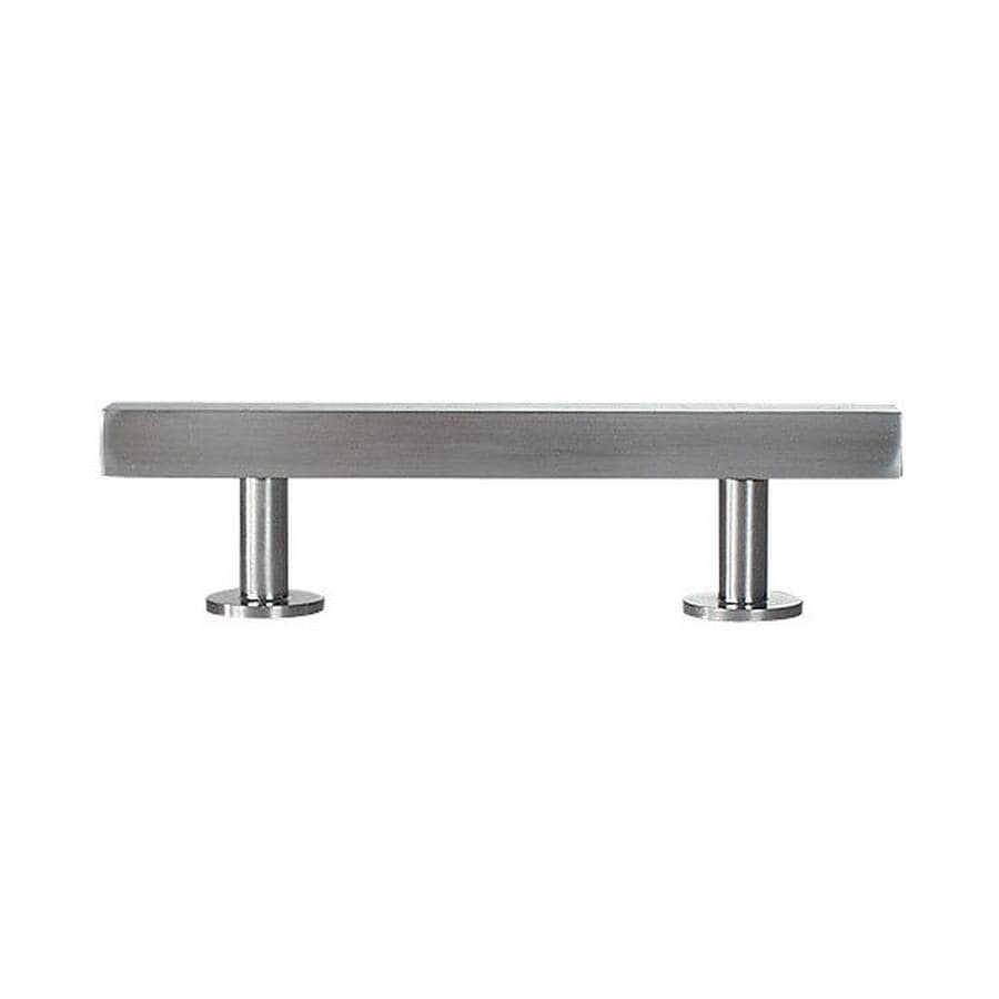 Lew's Hardware 16-in Center-to-Center Brushed Nickel Bar Series Bar Cabinet Pull
