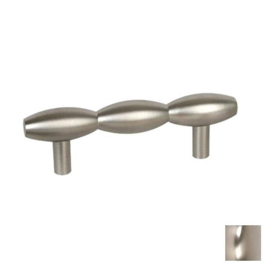 Lew's Hardware 3-in Center-to-Center Polished Chrome Barrel Series Bar Cabinet Pull