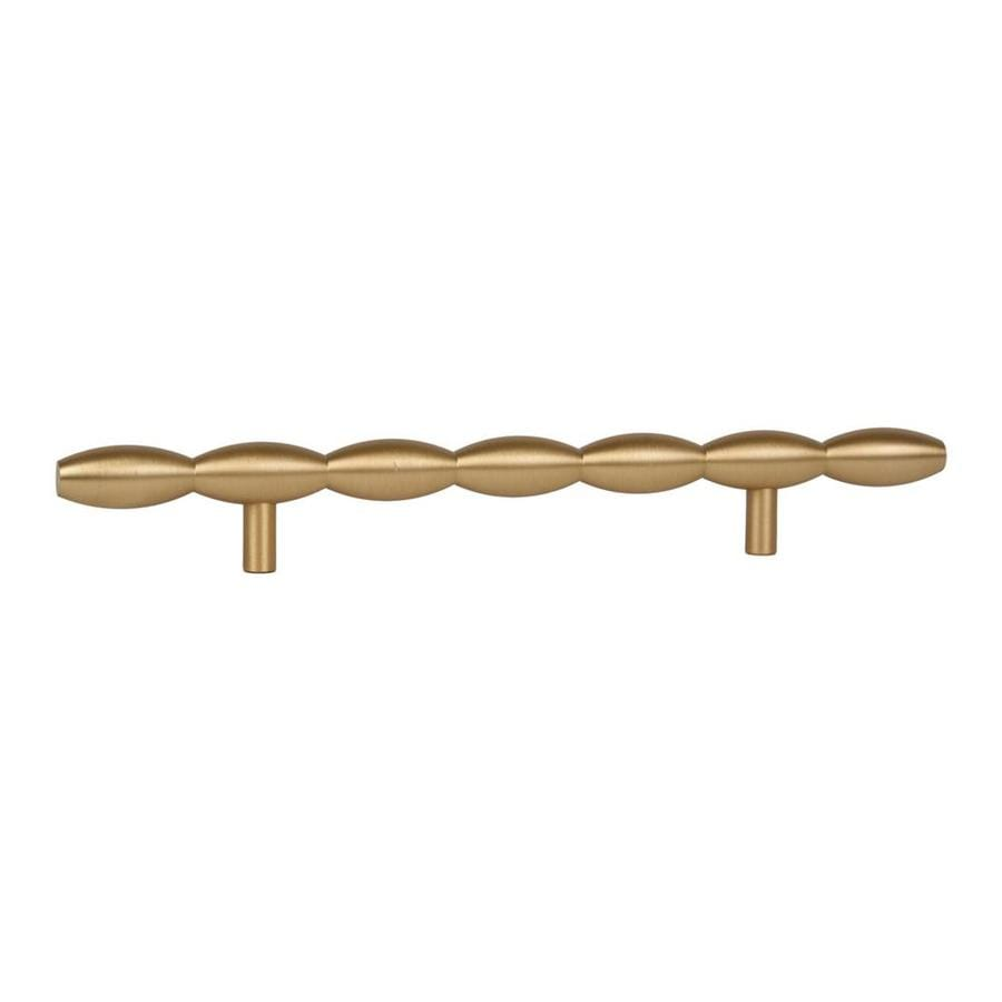 Lew's Hardware 6-in Center-to-Center Brushed Brass Barrel Series Bar Cabinet Pull