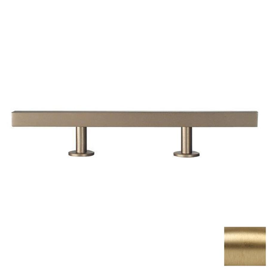 Lew's Hardware 6-in Center-to-Center Brushed Brass Bar Series Bar Cabinet Pull