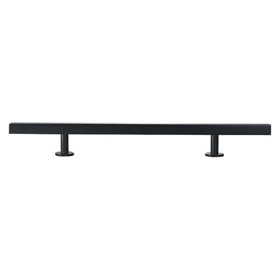 Lew's Hardware 12-in Center-to-Center Matte Black Bar Series Bar Cabinet Pull