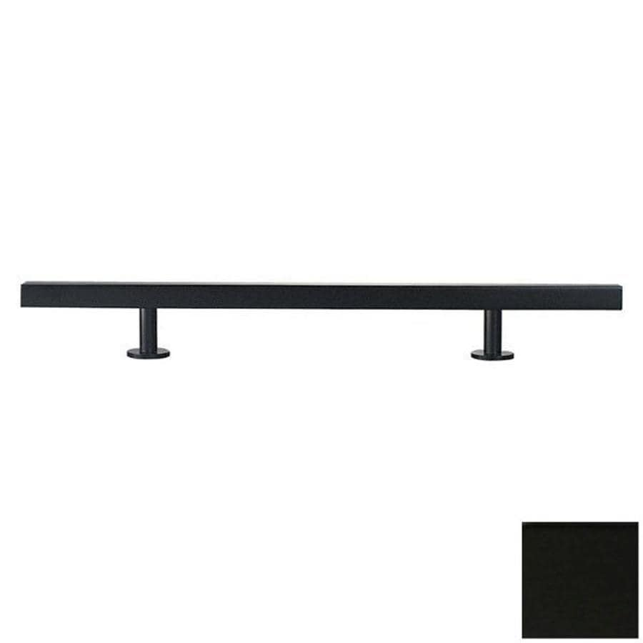 Lew's Hardware 16-in Center-to-Center Matte Black Bar Series Bar Cabinet Pull
