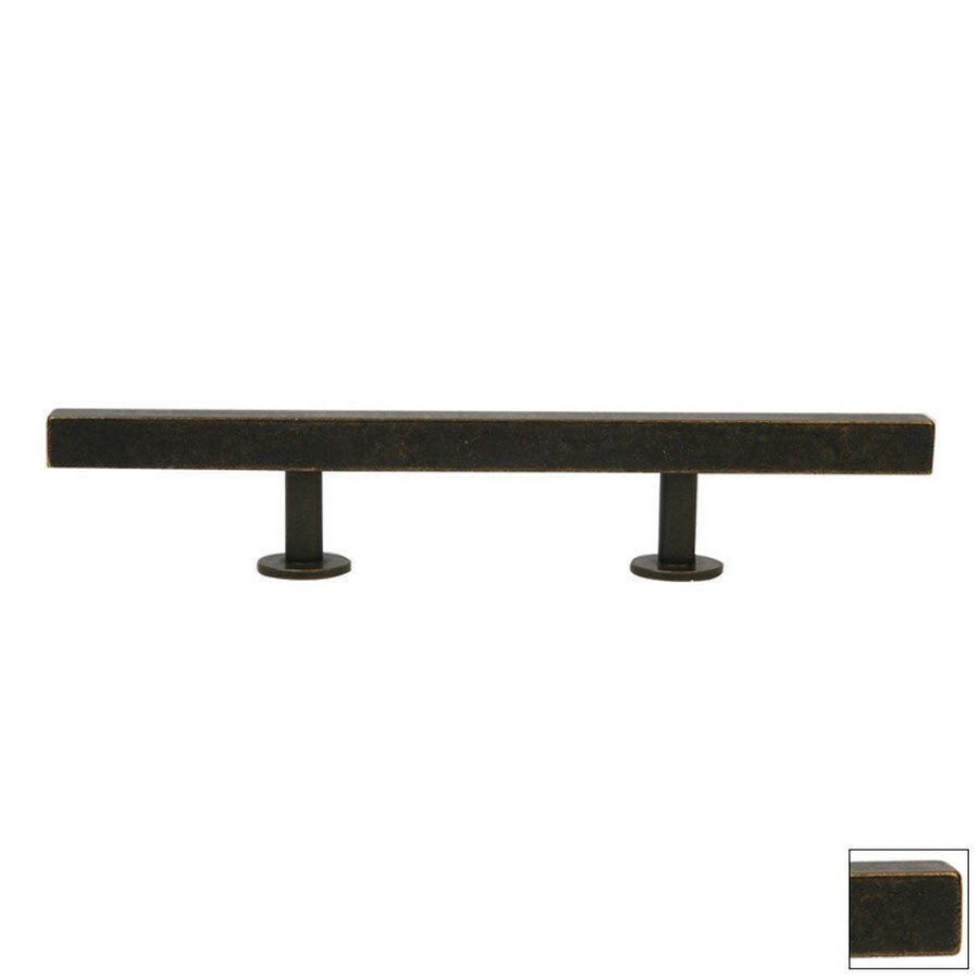 Lew's Hardware 3-3/4-in Center-to-Center Oil-Rubbed Bronze Bar Series Bar Cabinet Pull