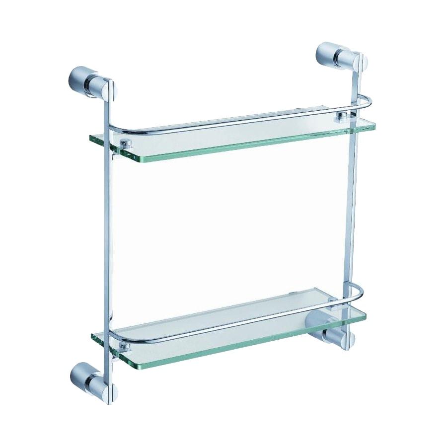 Fresca Magnifico 2-Tier Triple Chrome Brass Bathroom Shelf