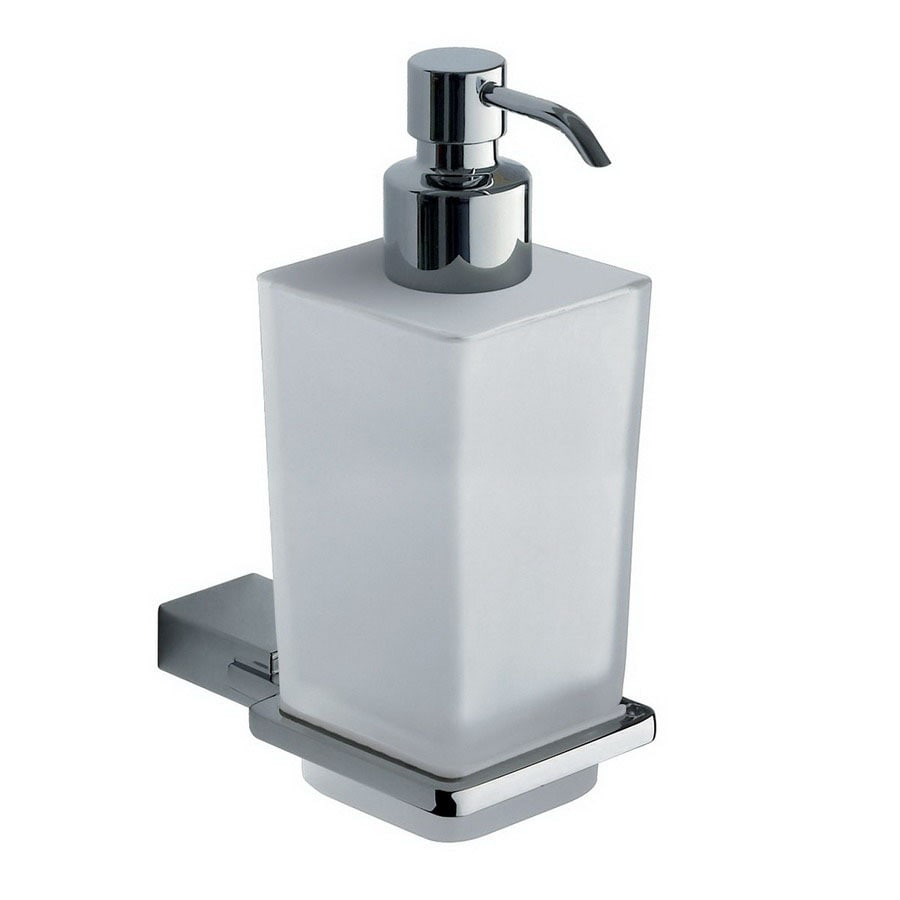 gedy by nameeks gedy by nameeks shop nameeks gedy cucciolo white  - shop nameeks gedy kansas chrome soap and lotion dispenser at lowescom