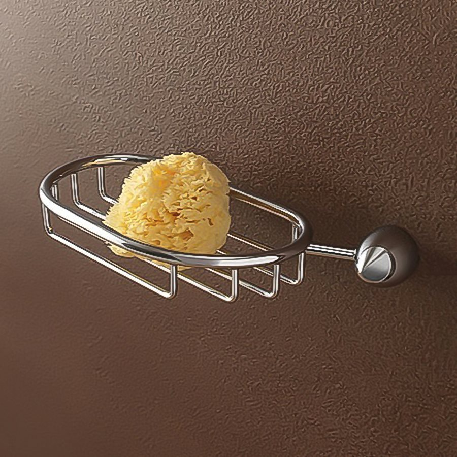 Nameeks Marina Chrome Brass Soap Dish/Sponge Stand