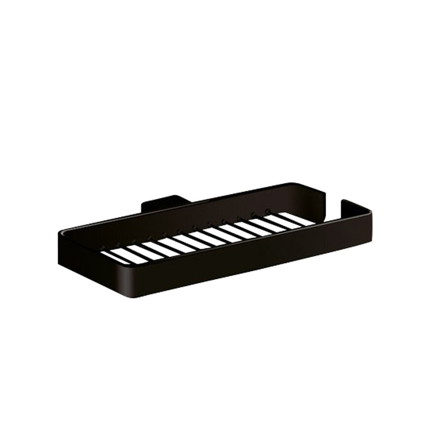 Nameeks Lounge 9,69-in Matte Black Brass Soap Dish