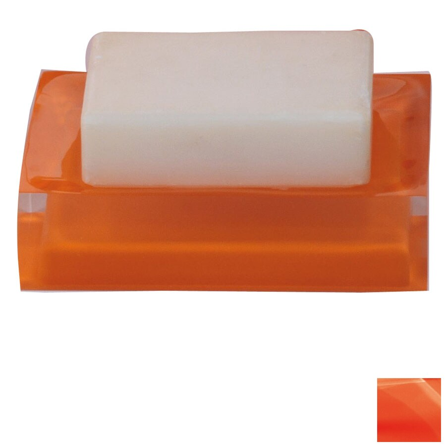 Nameeks Gedy Rainbow Orange Resin Soap Dish