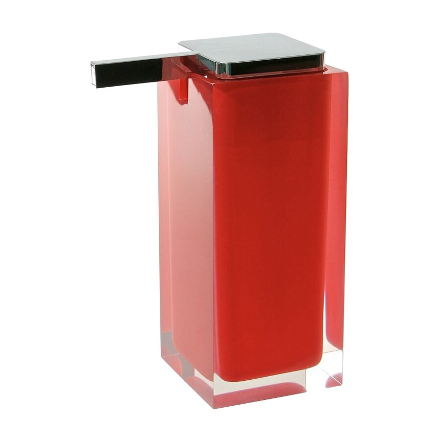 Nameeks Gedy Rainbow Red Soap and Lotion Dispenser