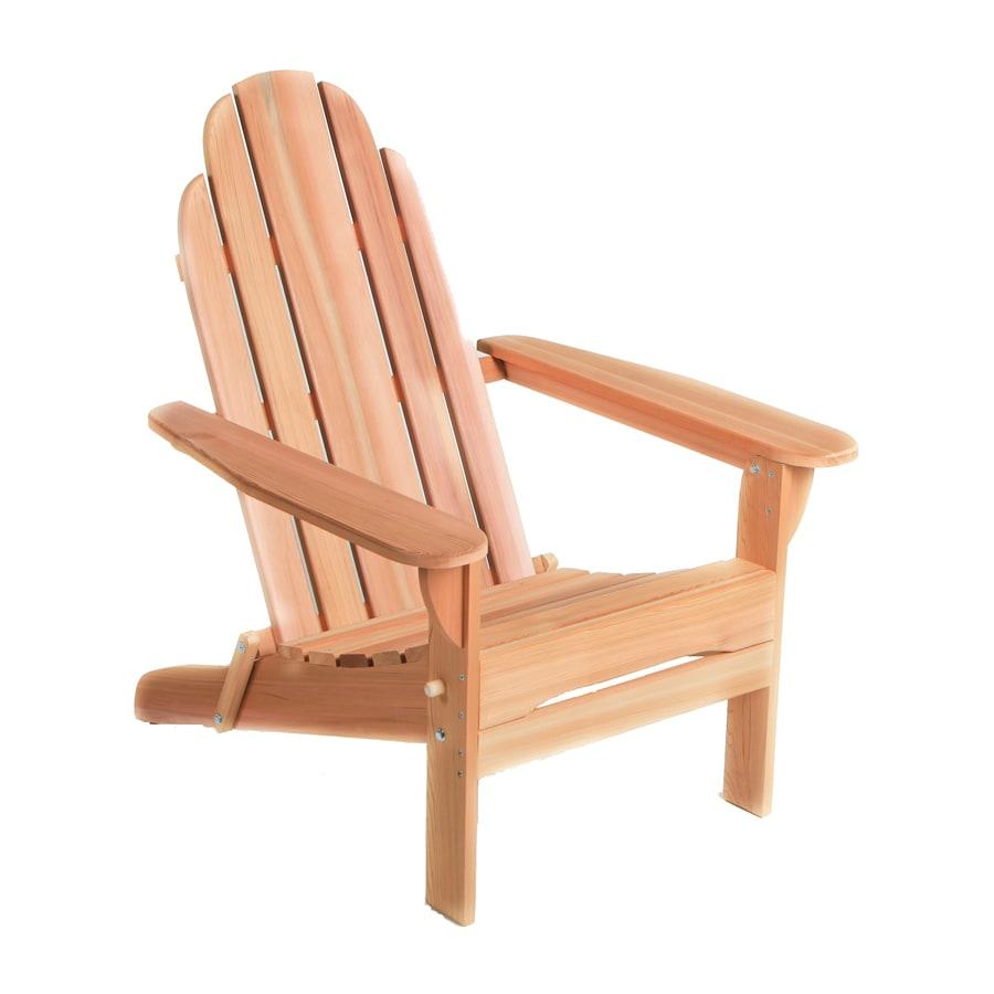 All Things Cedar Andy Tan Cedar Folding Patio Adirondack Chair