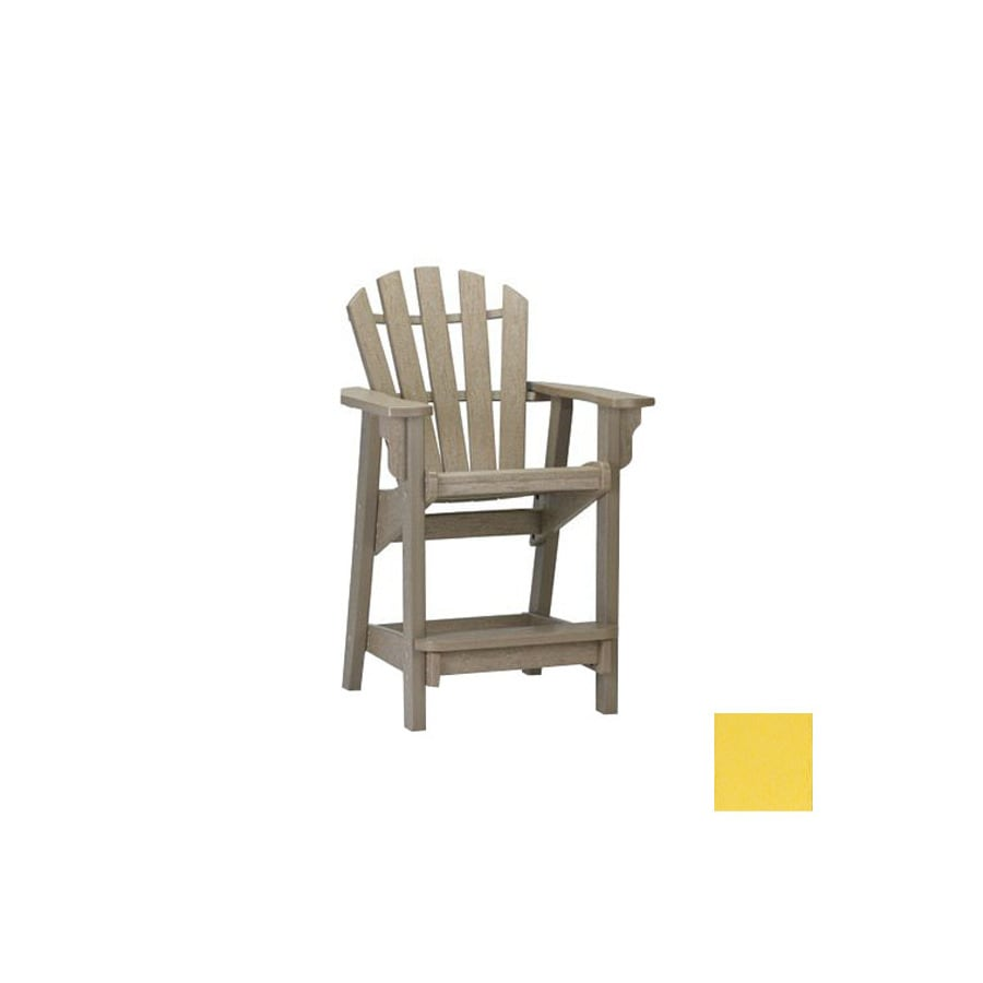 Siesta Furniture Classic Bright Yellow Plastic Adirondack Chair