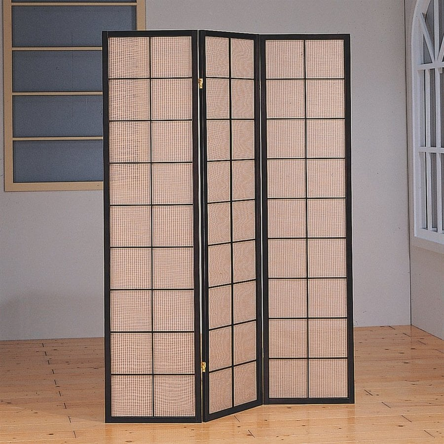 Monarch Specialties 3-Panel Cappuccino Fabric Folding Indoor Privacy Screen