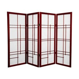 Lovely Oriental Furniture Eudes 4 Panel Rosewood Paper Folding Indoor Privacy  Screen