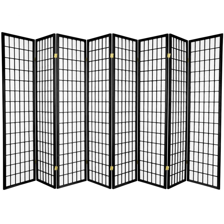 Awesome Oriental Furniture Window Pane 8 Panel Black Paper Folding Indoor Privacy  Screen