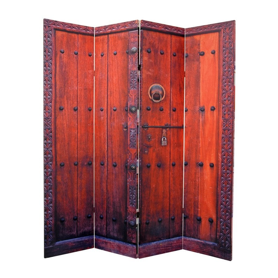 Shop Oriental Furniture Doors 4 Panel Multicolor Fabric Folding