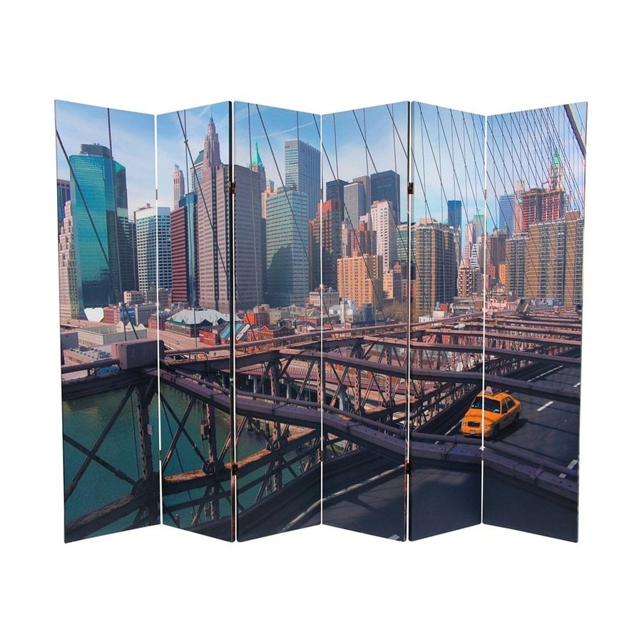 Shop oriental furniture new york taxi 6 panel multicolor for Asian furniture nyc