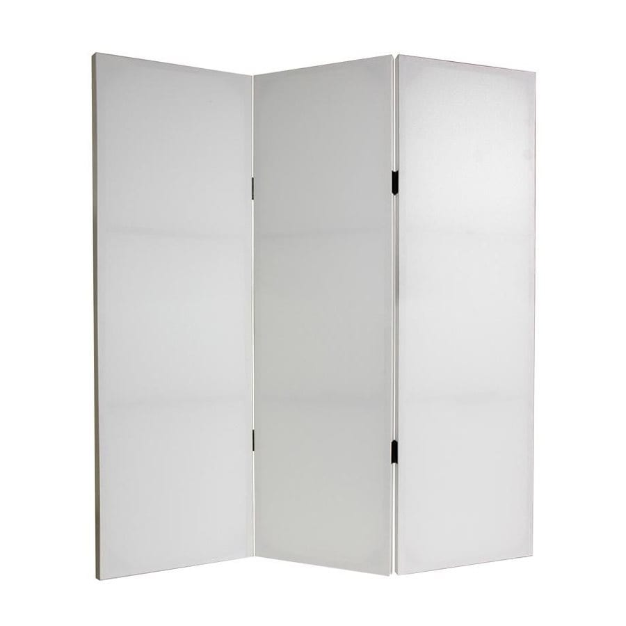 Shop oriental furniture do it yourself 3 panel white for Retractable privacy screen