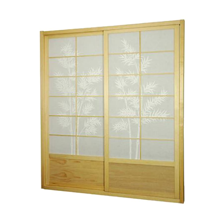 Shop oriental furniture bamboo tree 2 panel natural wood for Wood privacy screen panels