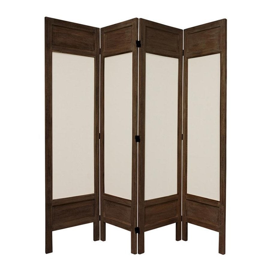 Shop oriental furniture 4 panel burnt brown fabric folding for Oriental furniture