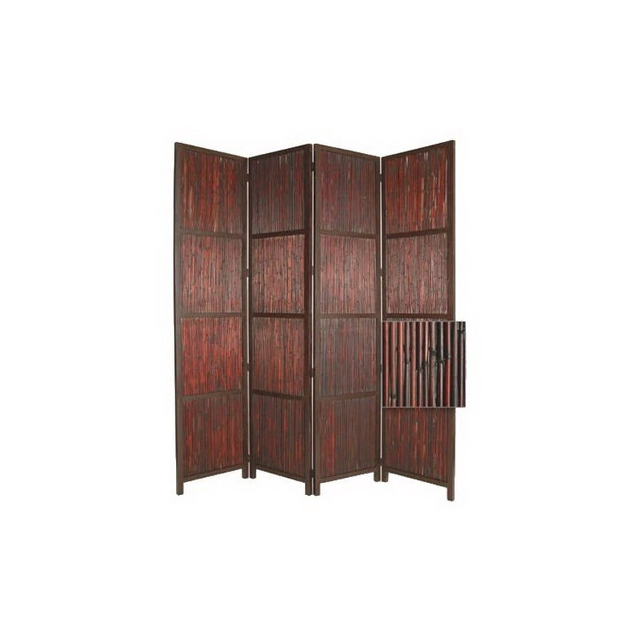 Oriental Furniture Room Dividers 4 Panel Multicolor Folding Indoor Privacy  Screen