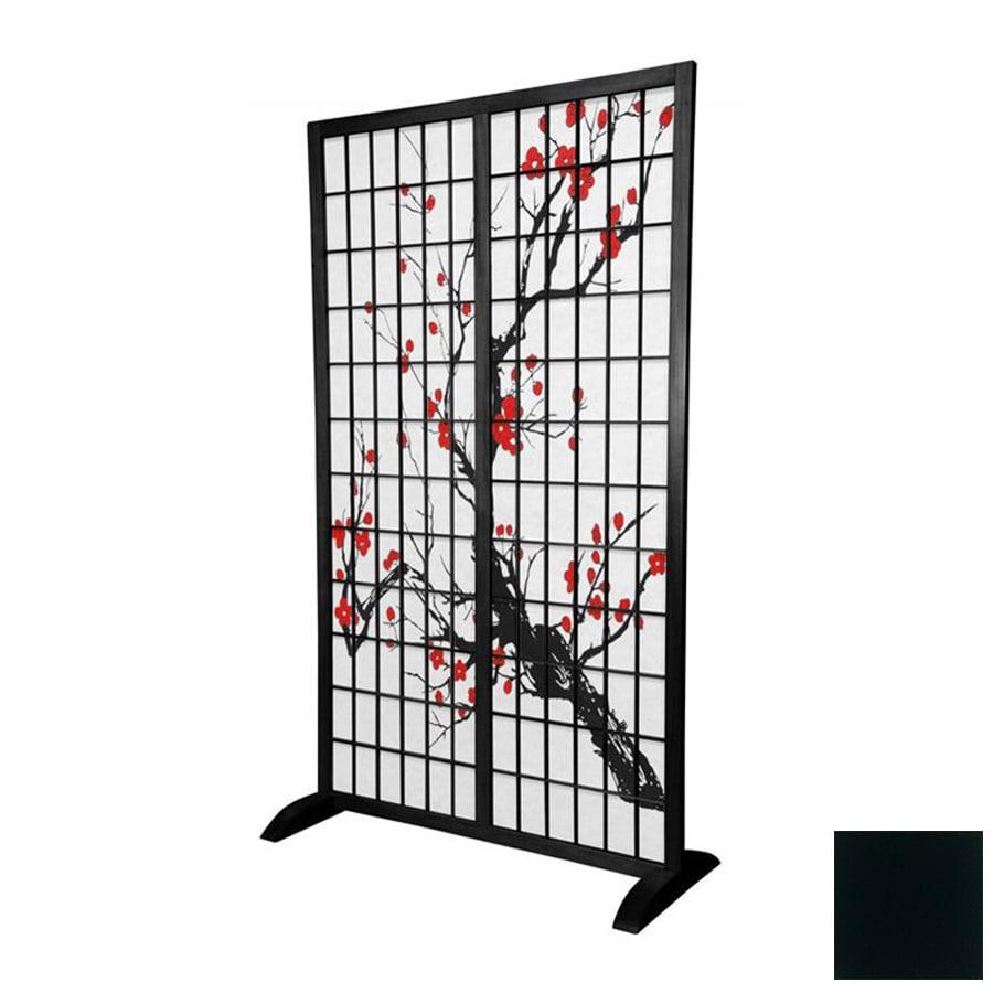 Shop Oriental Furniture Room Dividers 1 Panel Black Indoor Privacy