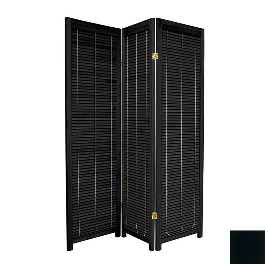 Shop Oriental Furniture Room Dividers 3 Panel Black