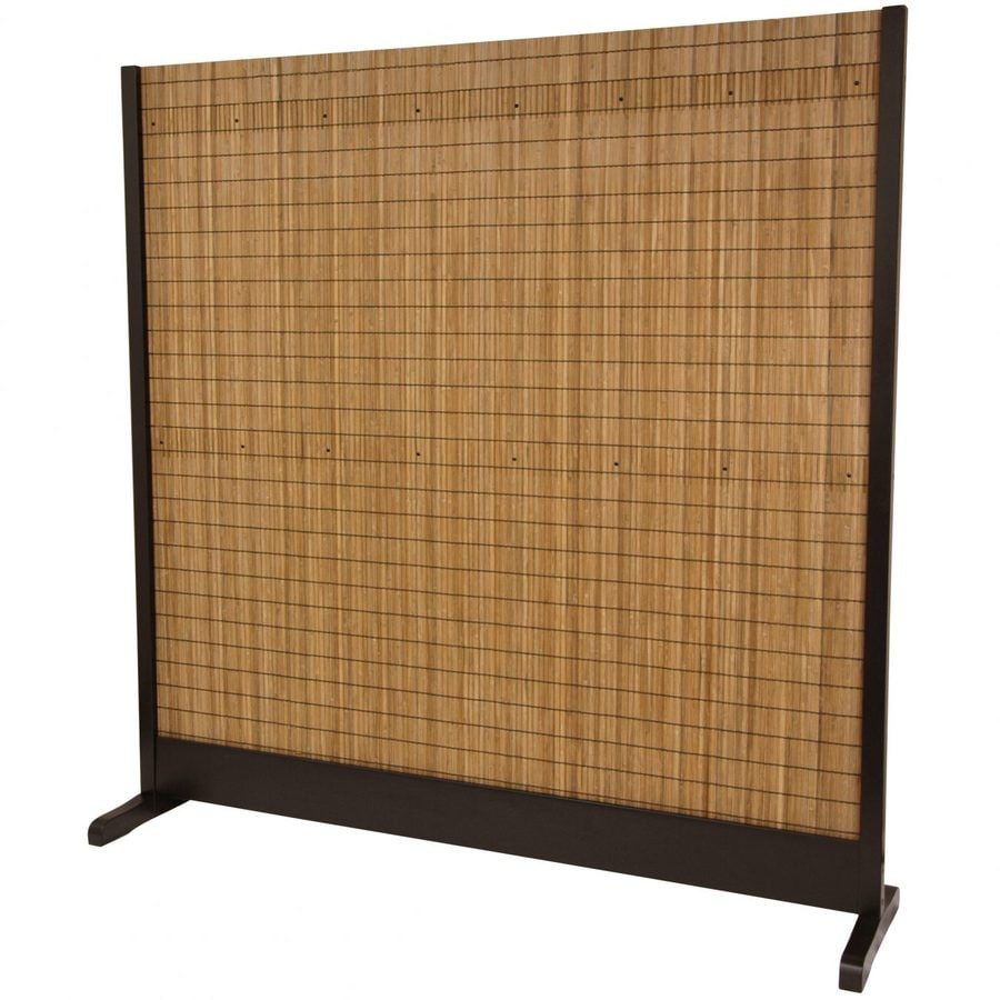 Oriental Furniture 1 Panel Walnut Bamboo Indoor Privacy Screen