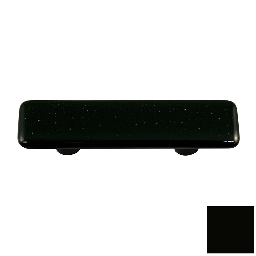 Hot Knobs 3-in Center-to-Center Black Solid Rectangular Cabinet Pull