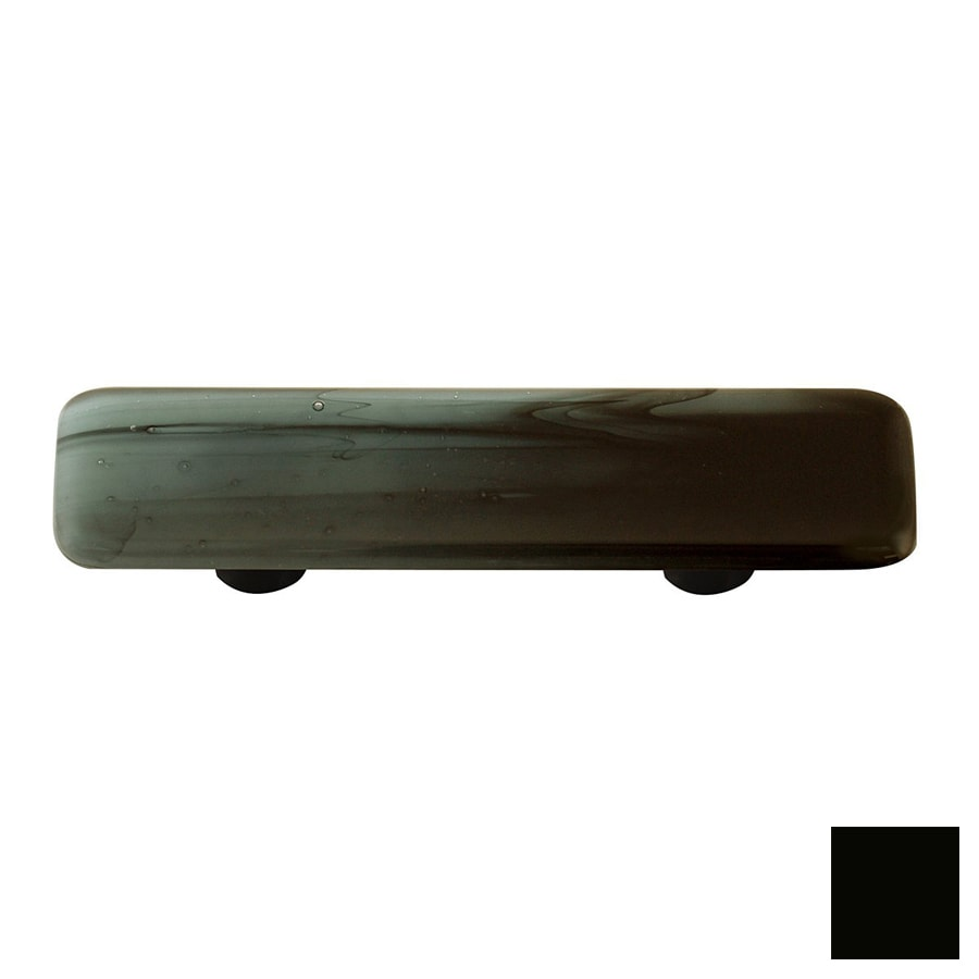 Hot Knobs 3-in Center-to-Center Black Swirl Rectangular Cabinet Pull