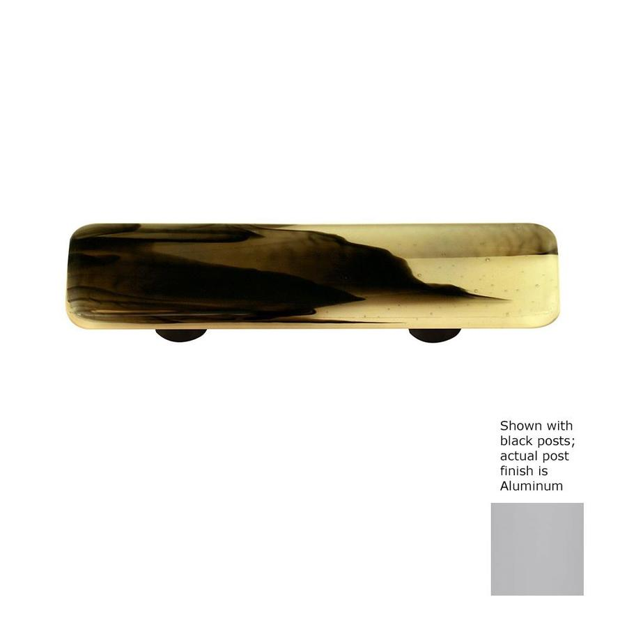 Hot Knobs 3-in Center-to-Center Aluminum Swirl Rectangular Cabinet Pull