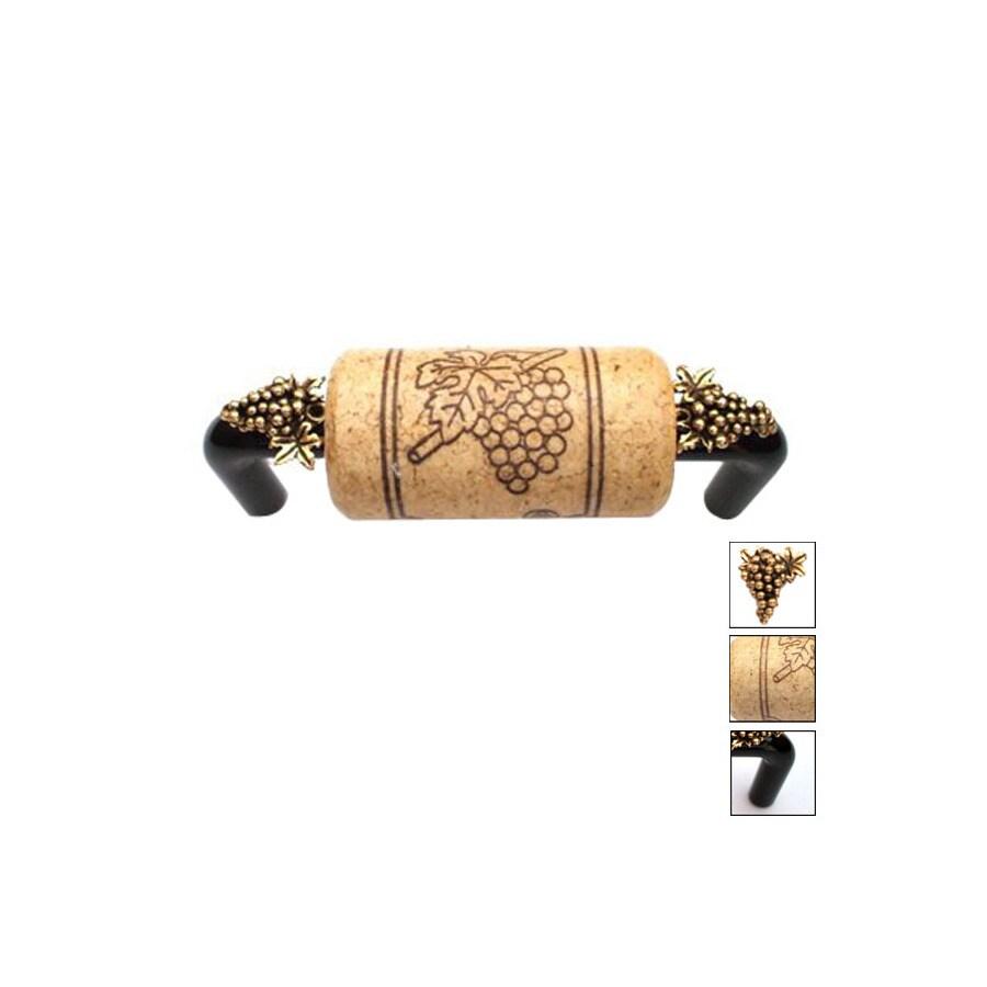Vine Designs 4-in Center-to-Center Black Vineyard Novelty Cabinet Pull