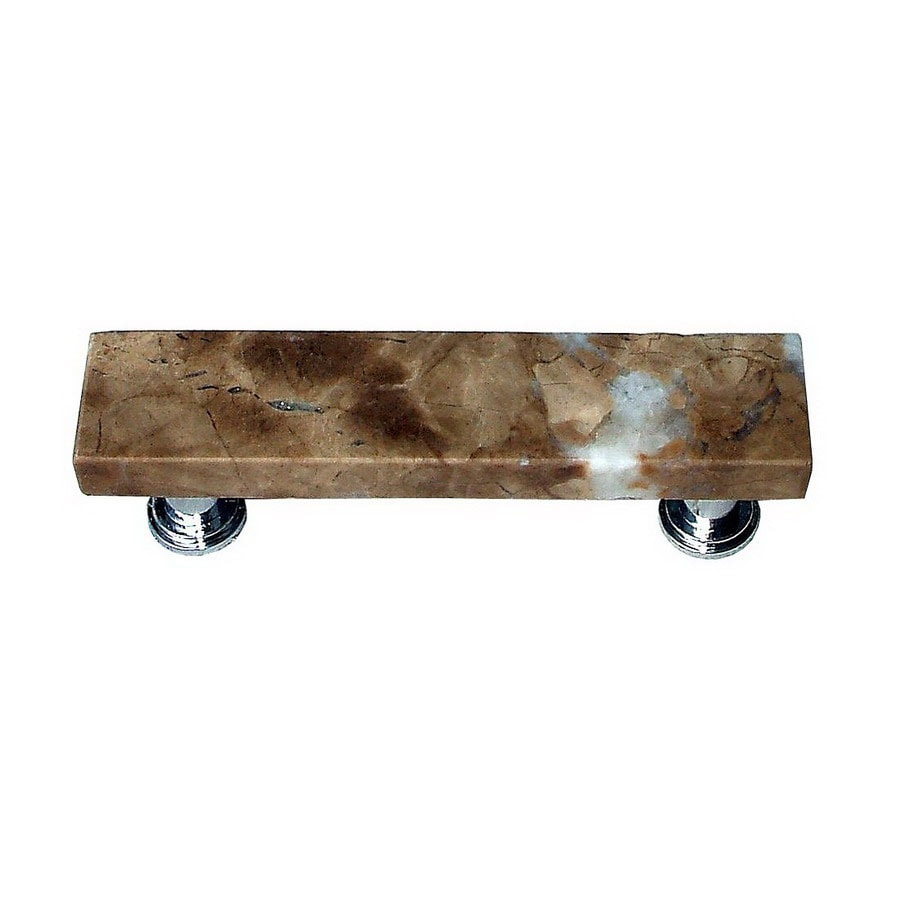 Vine Designs 3-in Center-To-Center Satin Nickel Tuscany Rectangular Cabinet Pull