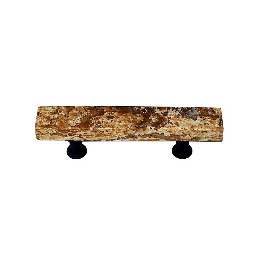 Vine Designs 3-in Center-to-Center Oil-Rubbed Bronze Tuscany Rectangular Cabinet Pull
