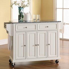 Coaster Fine Furniture White Craftsman Kitchen Island