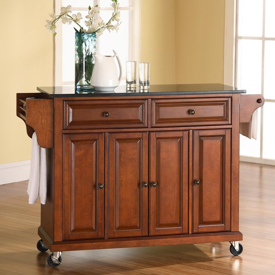 Shop Crosley Furniture Brown Craftsman Kitchen Island At