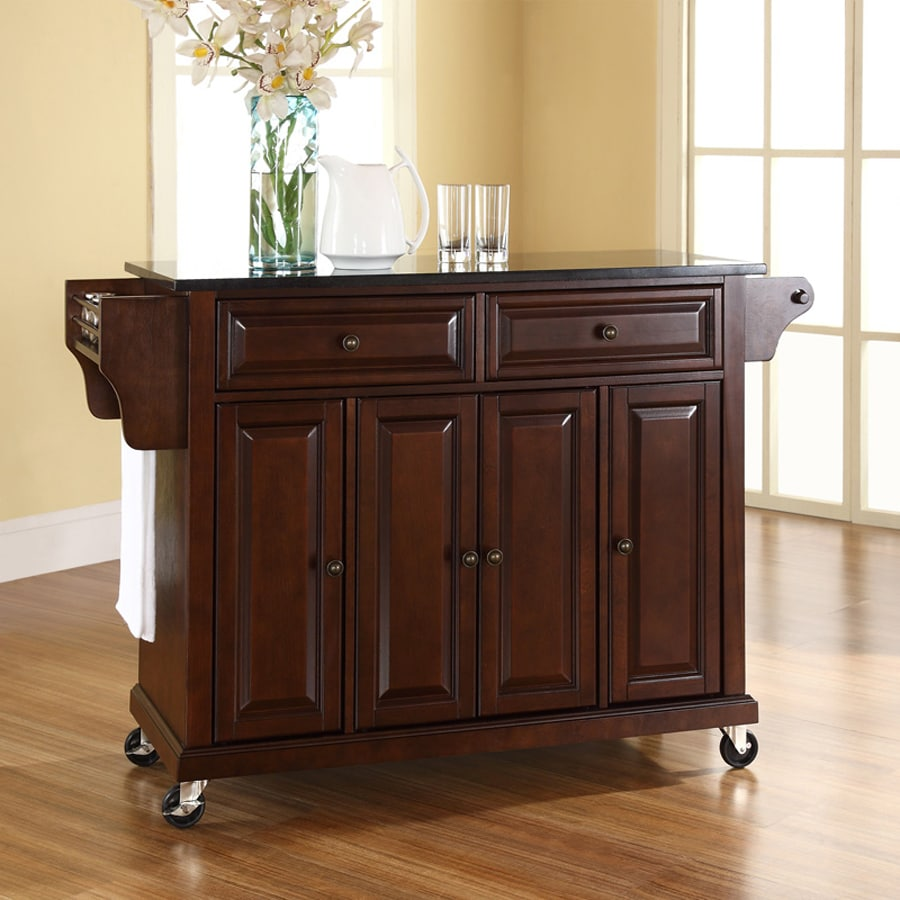 Kitchen Islands And Carts Lowes: Crosley Furniture Brown Craftsman Kitchen Island At Lowes.com