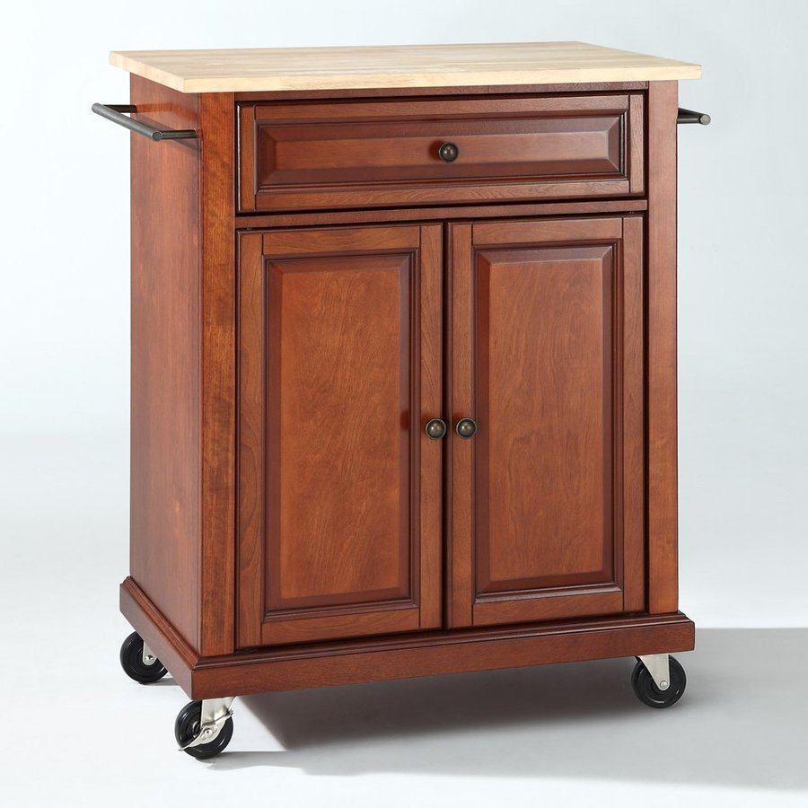 Shop Crosley Furniture Brown Craftsman Kitchen Cart At