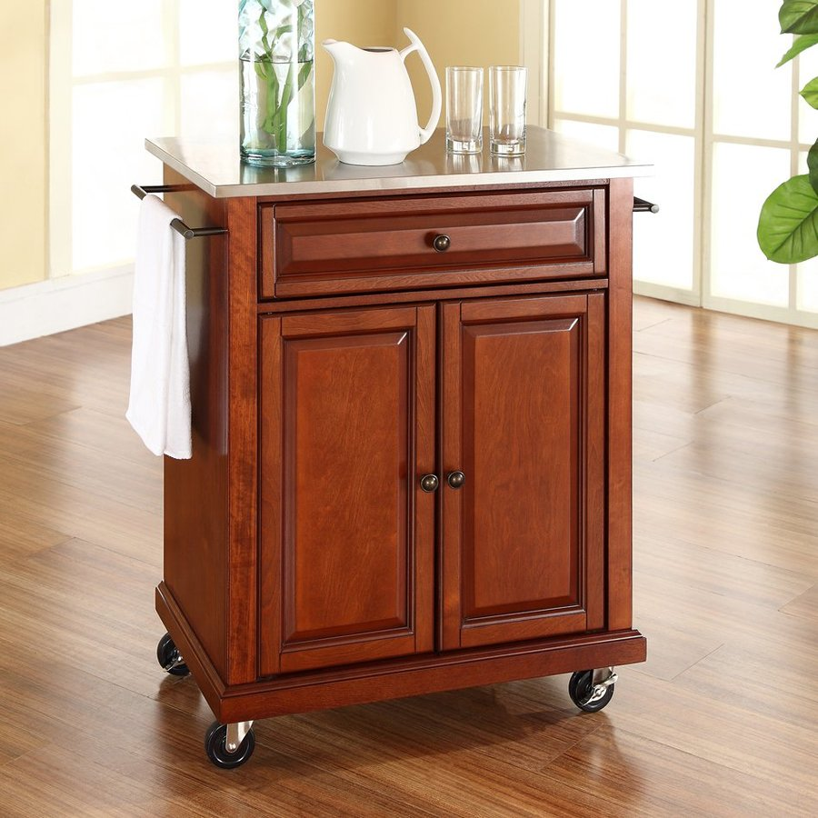 Kitchen Islands And Carts Lowes: Crosley Furniture Brown Craftsman Kitchen Cart At Lowes.com