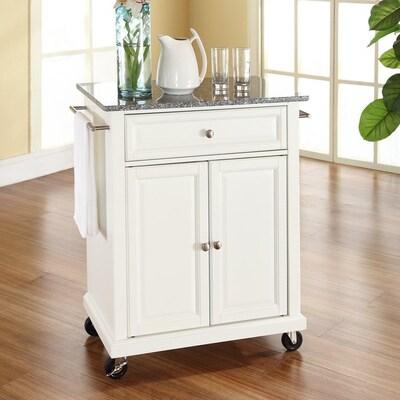 White Craftsman Kitchen Cart