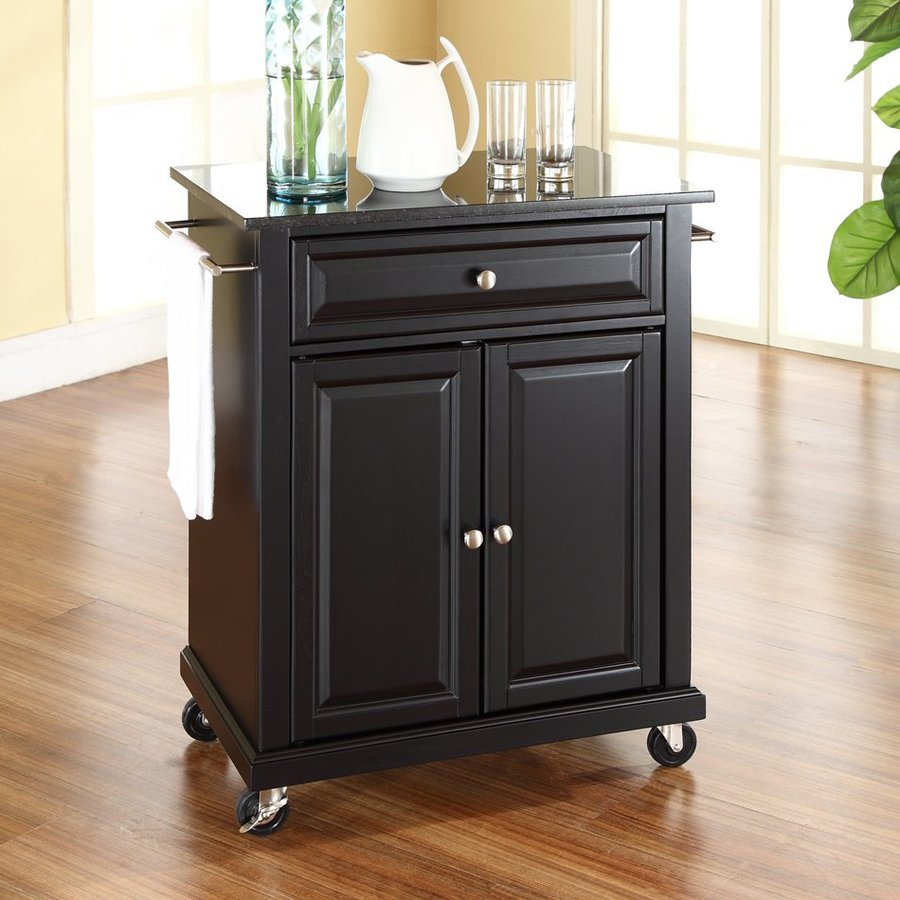 Go Home Black Industrial Kitchen Cart At Lowes Com: Crosley Furniture Black Craftsman Kitchen Cart At Lowes.com