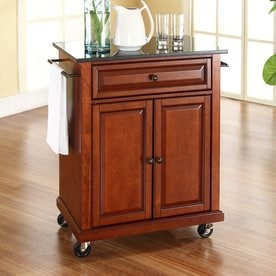 crosley furniture brown craftsman kitchen cart