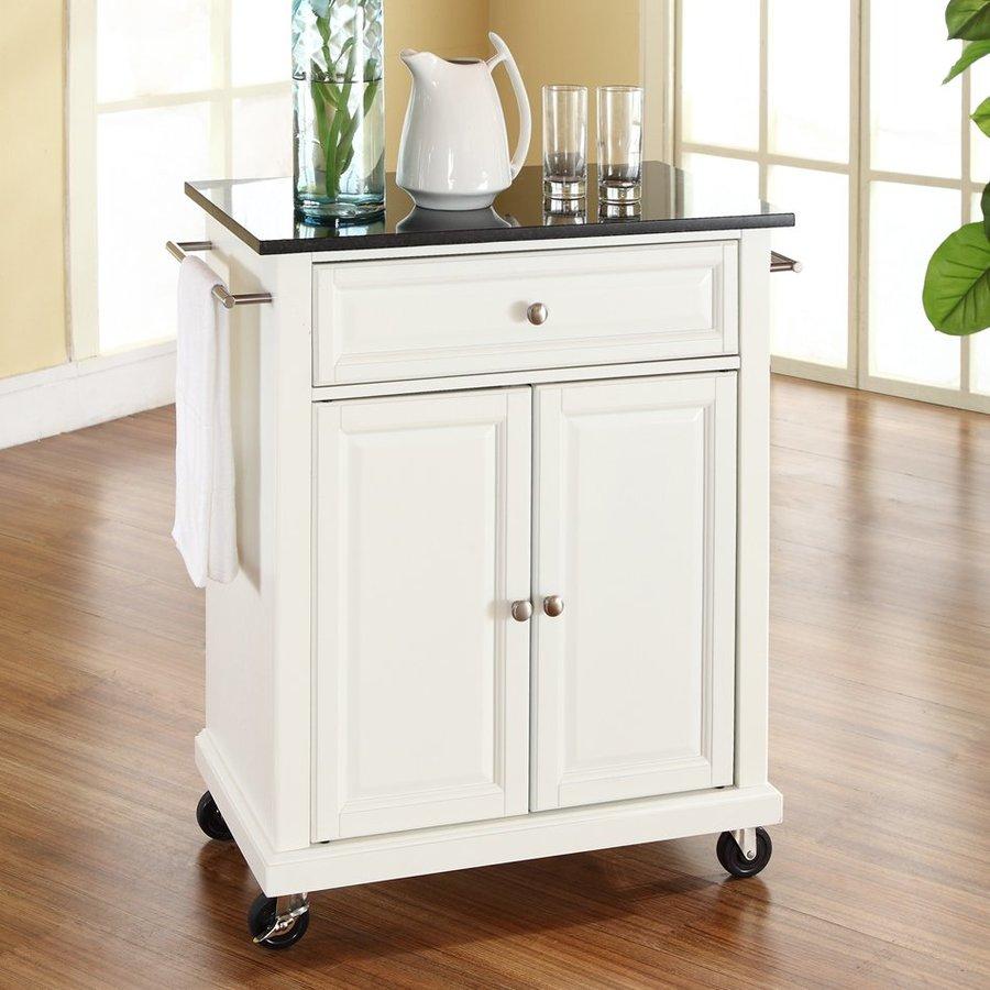 Crosley Furniture White Craftsman Kitchen Cart